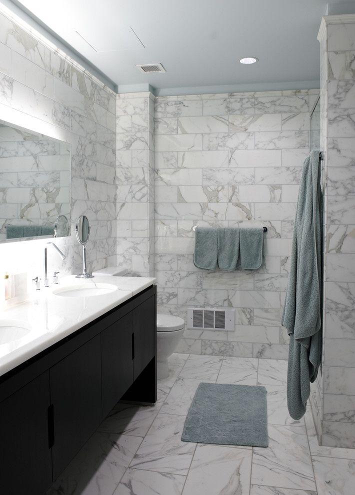 Ordinaire Chunky Marble Bathroom Tile Installation No!