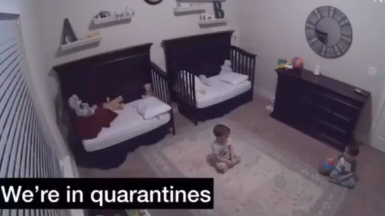 3 Year Old Twin Boys Discuss Quarantines After Mom Puts Them To