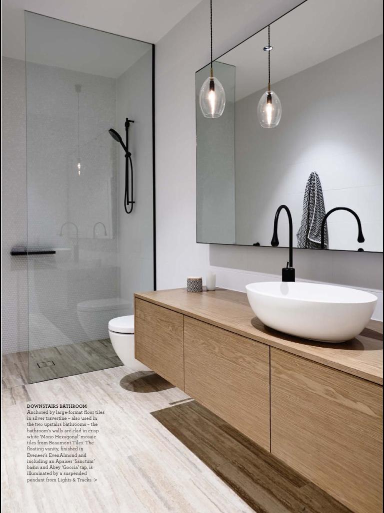 Vanity and shower i like big mirror good option