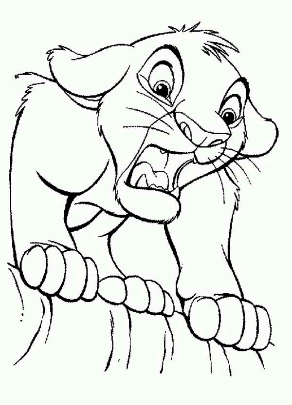 Simba Is Shocked The Lion King Coloring Page Kids Play Color Lion King Art Lion King Coloring Pages