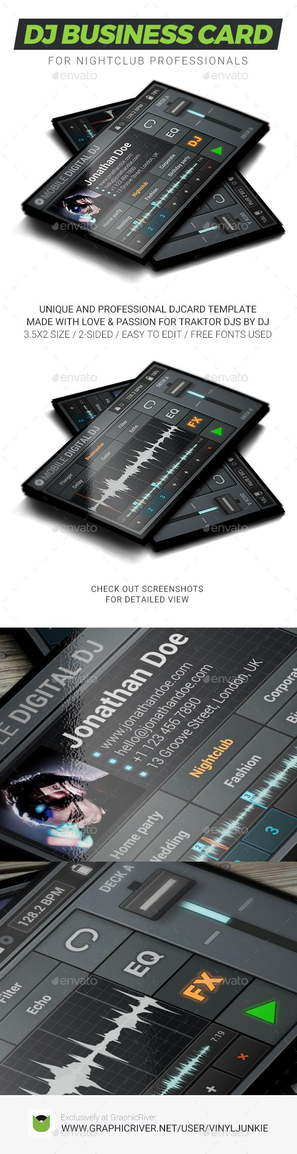 Mobile digital dj business card dj business cards business cards mobile digital dj business card reheart Gallery