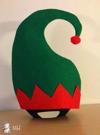 Manualidades Gorros De Navidad.Gorro De Duende En Fieltro Elfo Navidad Zapatos De Duende