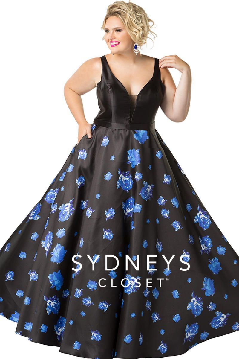1000eace2 Sydneys Closet SC7241 Floral Plus Size Prom Gown in 2019