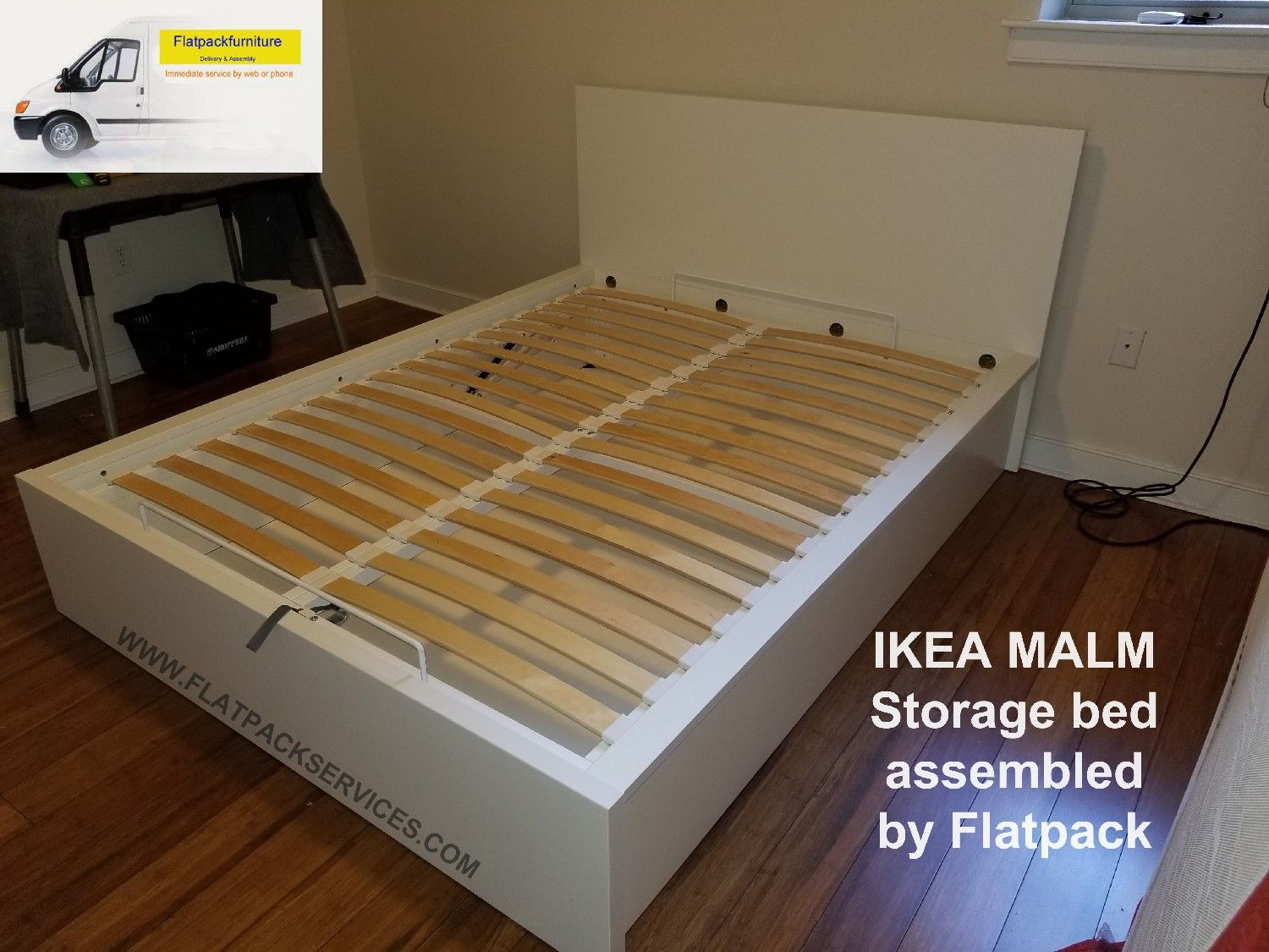 Merveilleux Malm Storage Bed Assembled By Flatpack Assembly 240 603 2781 | IKEA  Services | Assembly Service U2013 IKEA Services   Furniture Delivery U0026 Assembly    IKEA ...