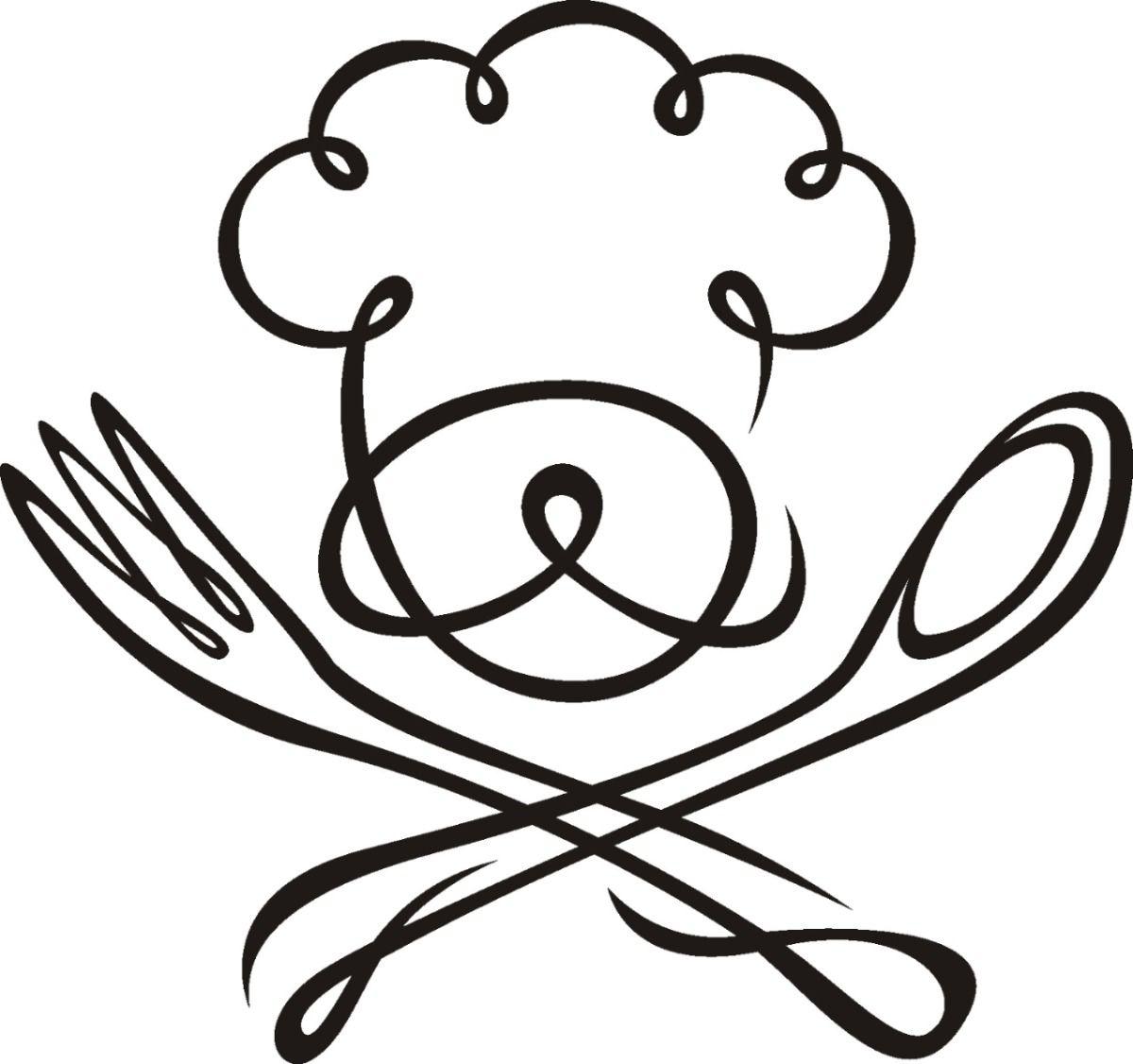 De pared dise os originales chef 1 10900 en mercadolibre for Utensilios de cocina logo