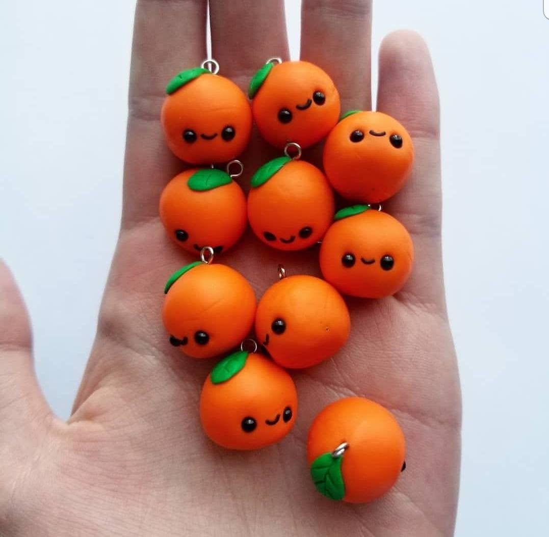 Orange Charm | Etsy