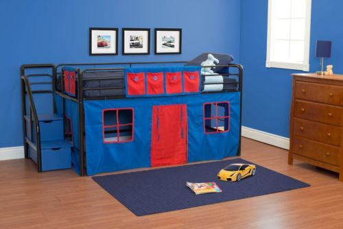 Curtain Set Only Fantasy Loft Bedroom Play Kids Toddlers Blue Bunk