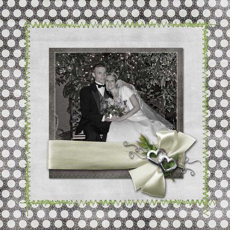 wedding scrapbook layouts   Recent Scrapbook Pages: Last Few Wedding Pages