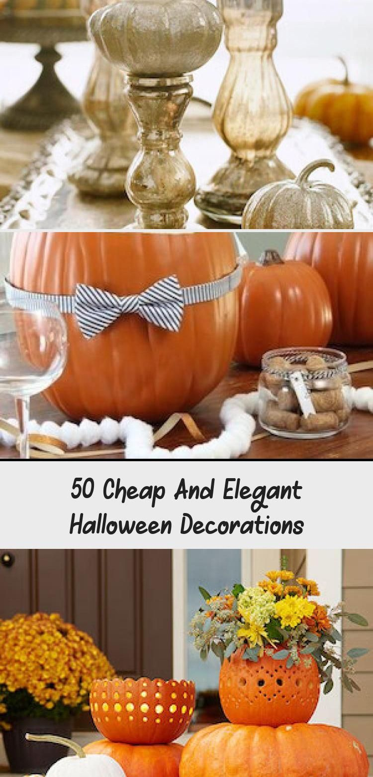 50 Cheap And Elegant Halloween Decorations -  DIY | DCHouzz #eleganthalloweendecor