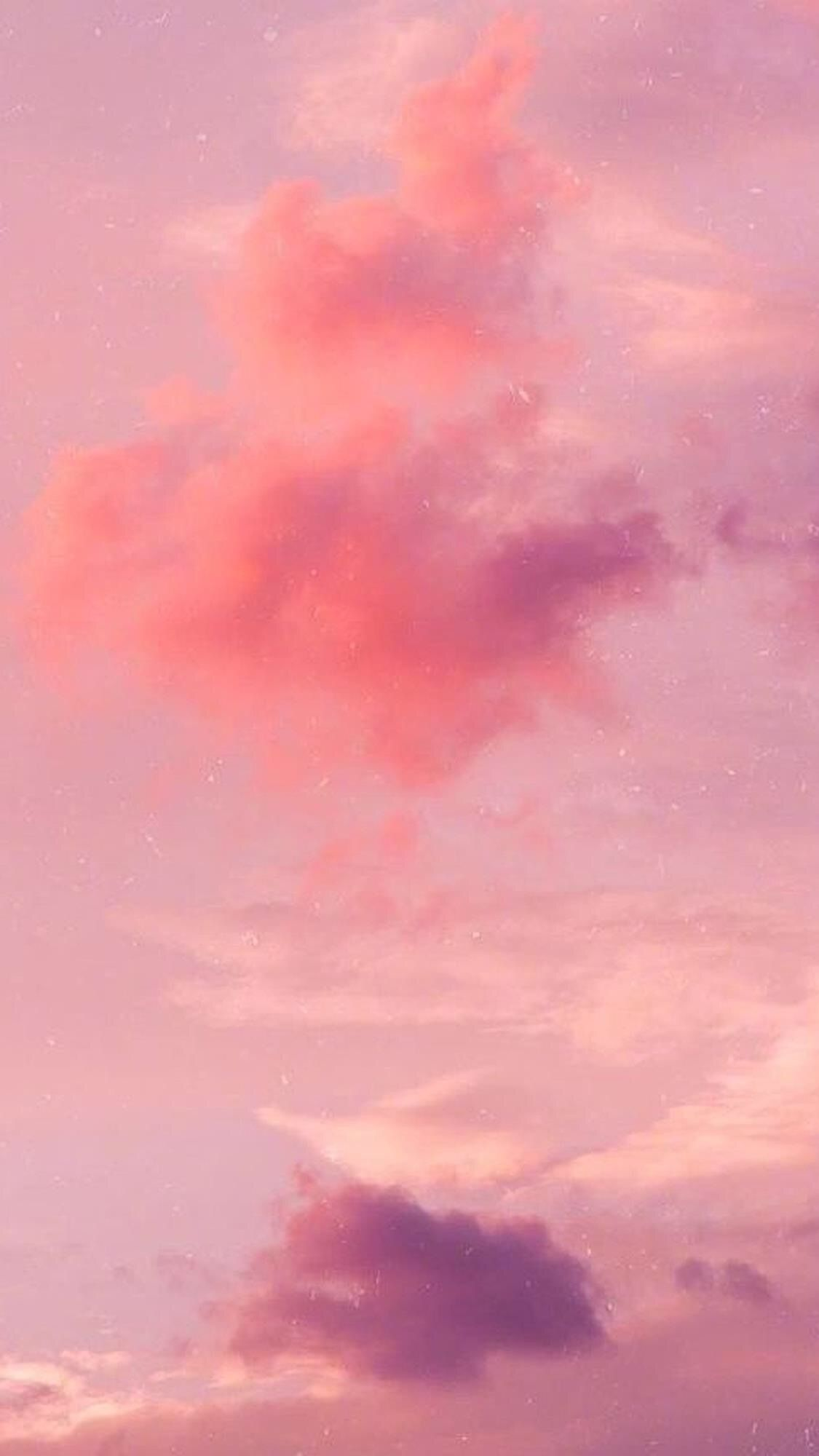 Pink Sky With Morandi Color Background Morandicolorwallpaper