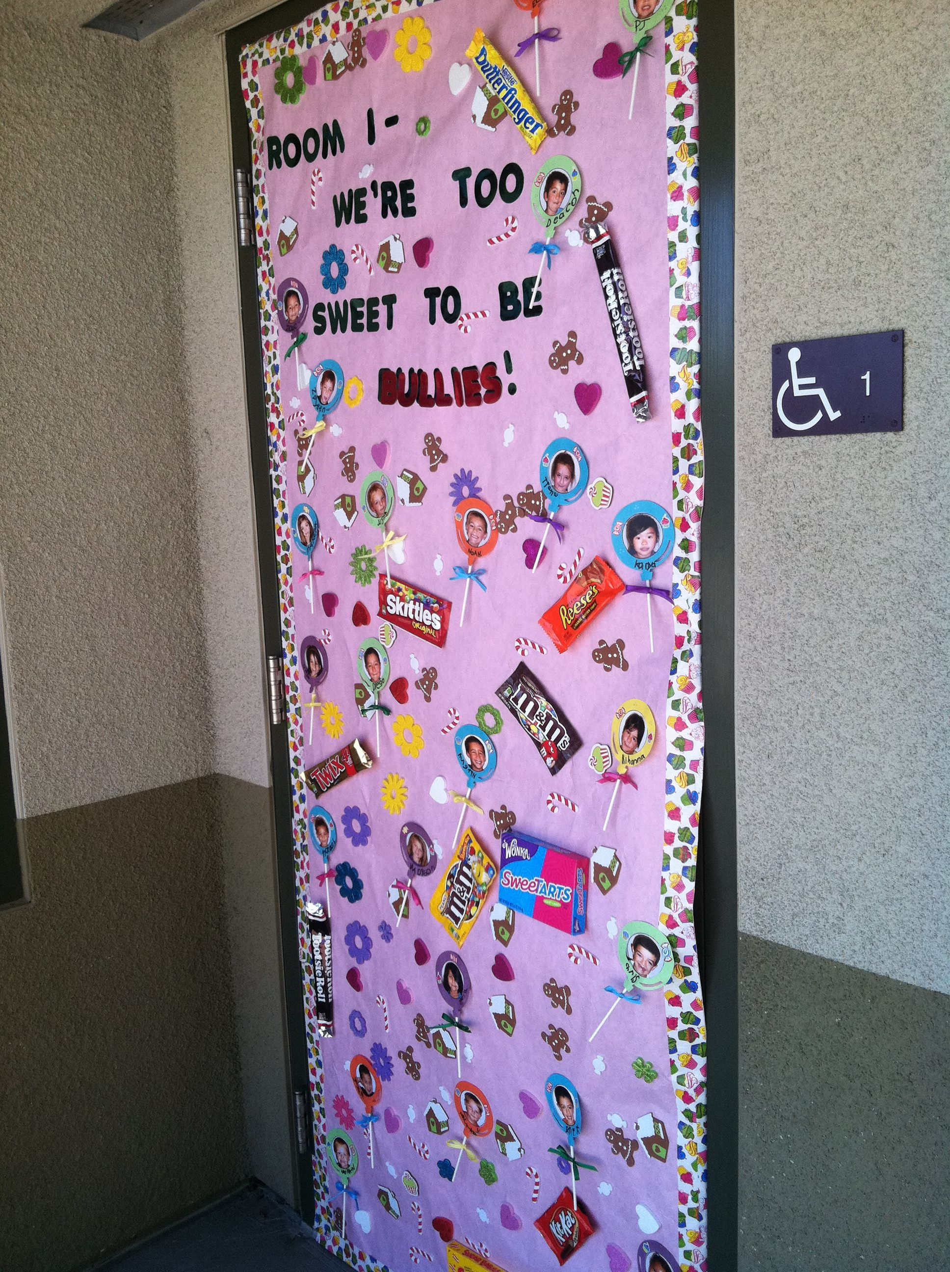 "Red Ribbon ""Anti-Bullying"" theme door decoration ..."