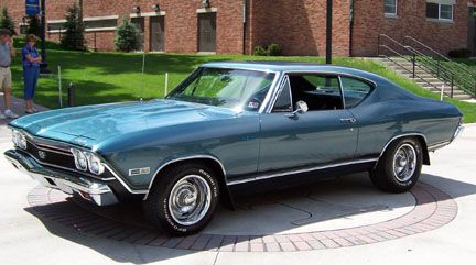 '68 Chevelle SS...loved mine....color was Seafoam Green ...