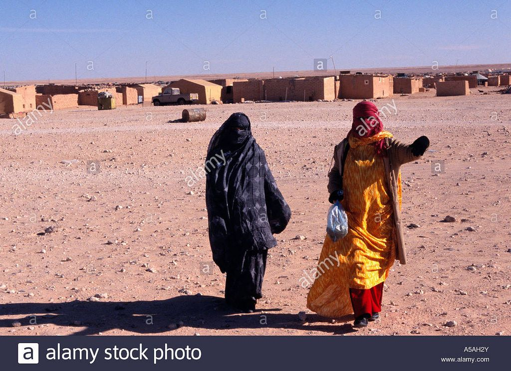 Sahrawi Women At A Refugee Camp In Tindouf Western Algeria A5ah2y