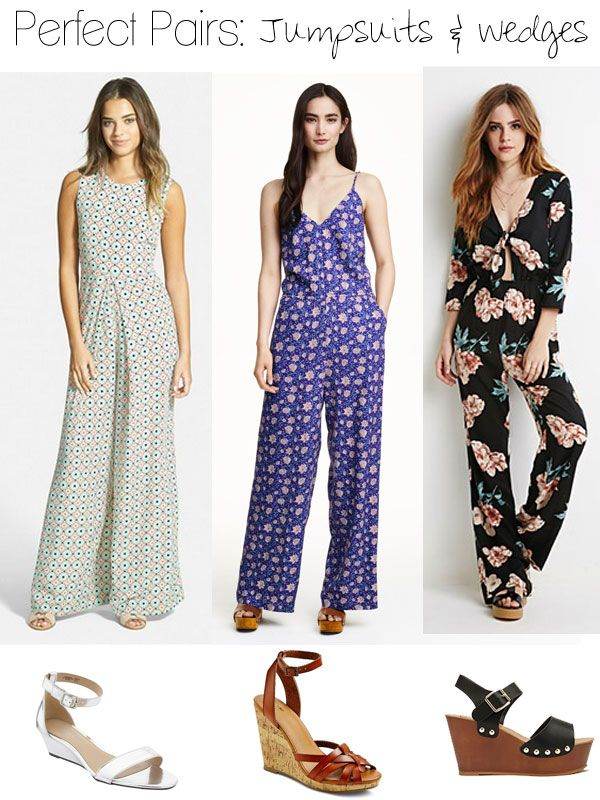 bfd0f4a771cb Perfect Pairs  Jumpsuits and Wedge Sandals Inspired by Jessica Alba ...
