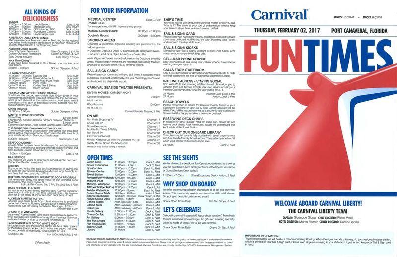 Carnival Liberty 3 Day Fun Times - Feb. 2-5, 2017 ...