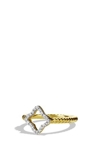 David Yurman Cable Collectibles Quatrefoil Ring With Diamonds In Gold Available At Nordstrom Jewelry Jewelry Design Rings
