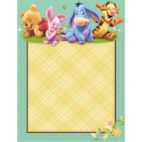 photo about Printable Winnie the Pooh Baby Shower Invitations named Boy or girl Pooh Kid Shower Invites - Printable Winnie the