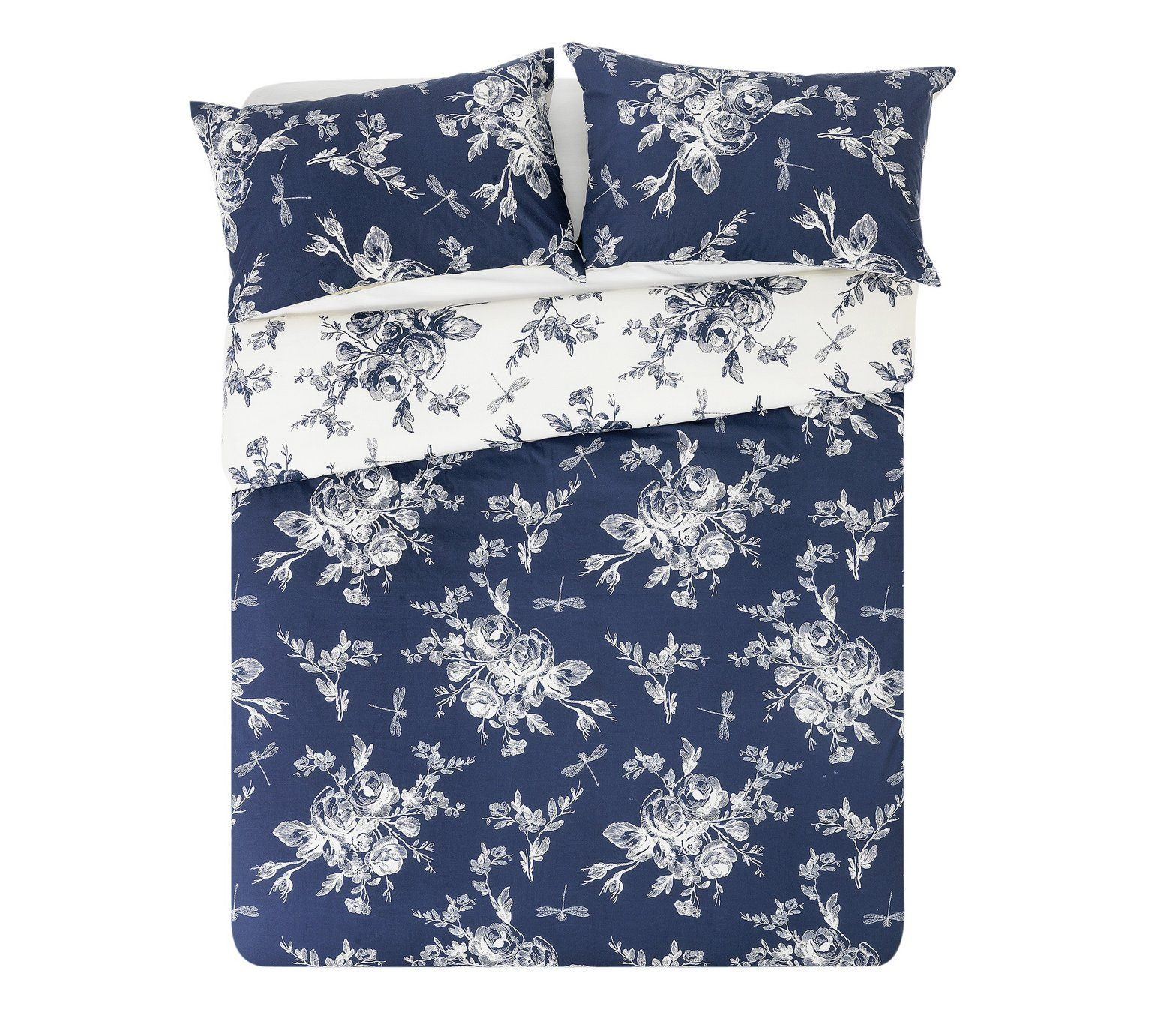 fee0f4b205a Buy Collection Lottie Blue and Cream Bedding Set - Double at Argos.co.uk -  Your Online Shop for Duvet cover sets