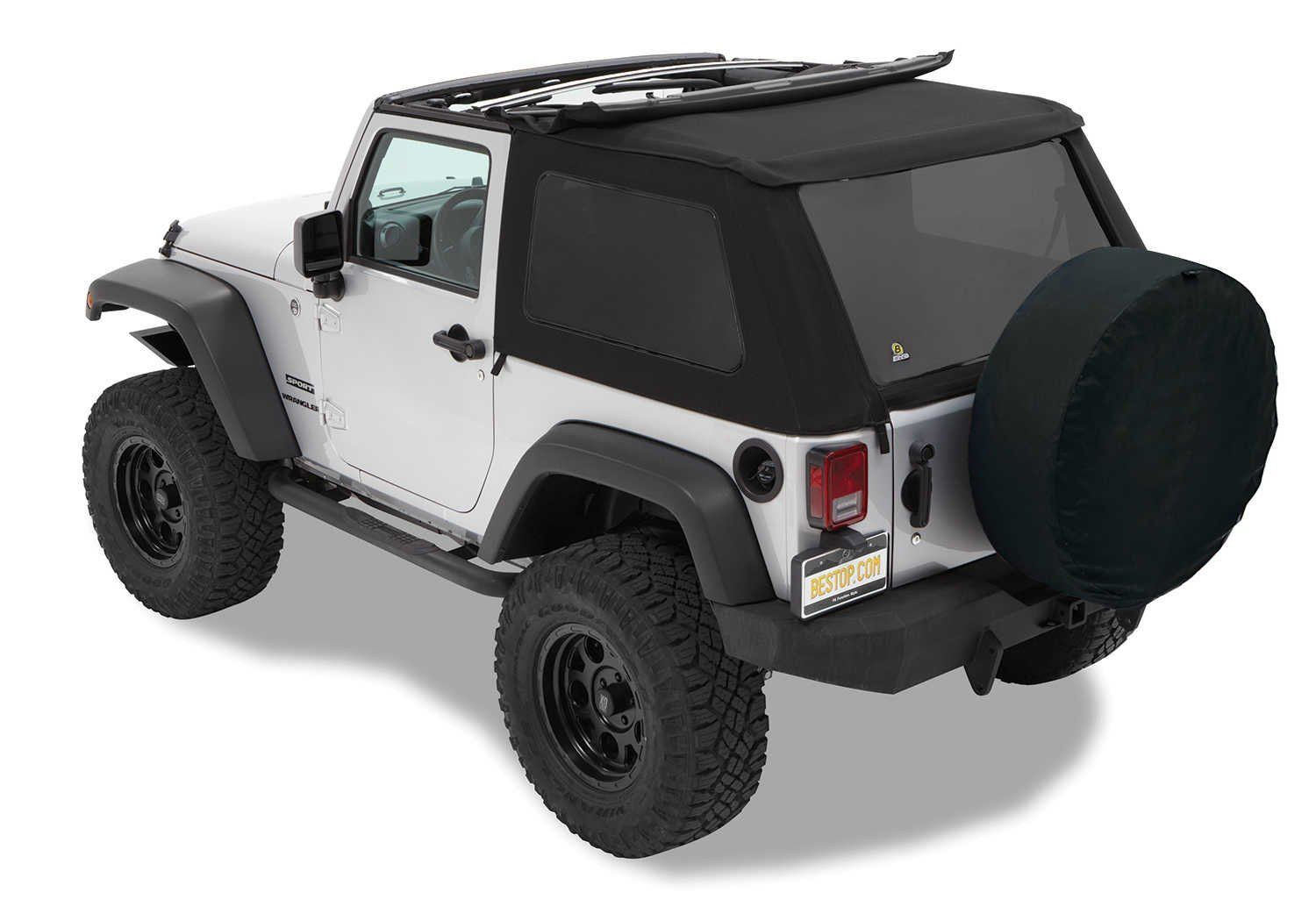 Bestop Trektop Nx Twill Soft Top For 07 16 Jeep Wrangler Jk 2 Door