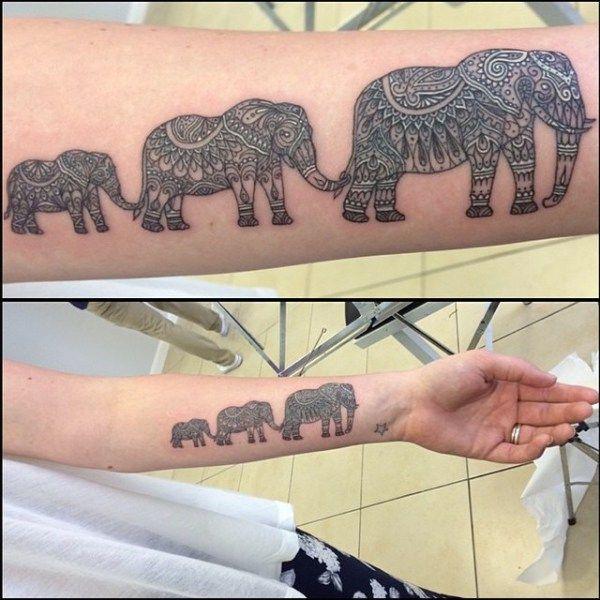 Familia De Elefantes Tatuajes Tatuaje Familia De Elefantes