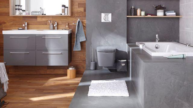 Sol salle de bain  12 revêtements de sol canon Shower bathroom - parquet flottant special salle de bain