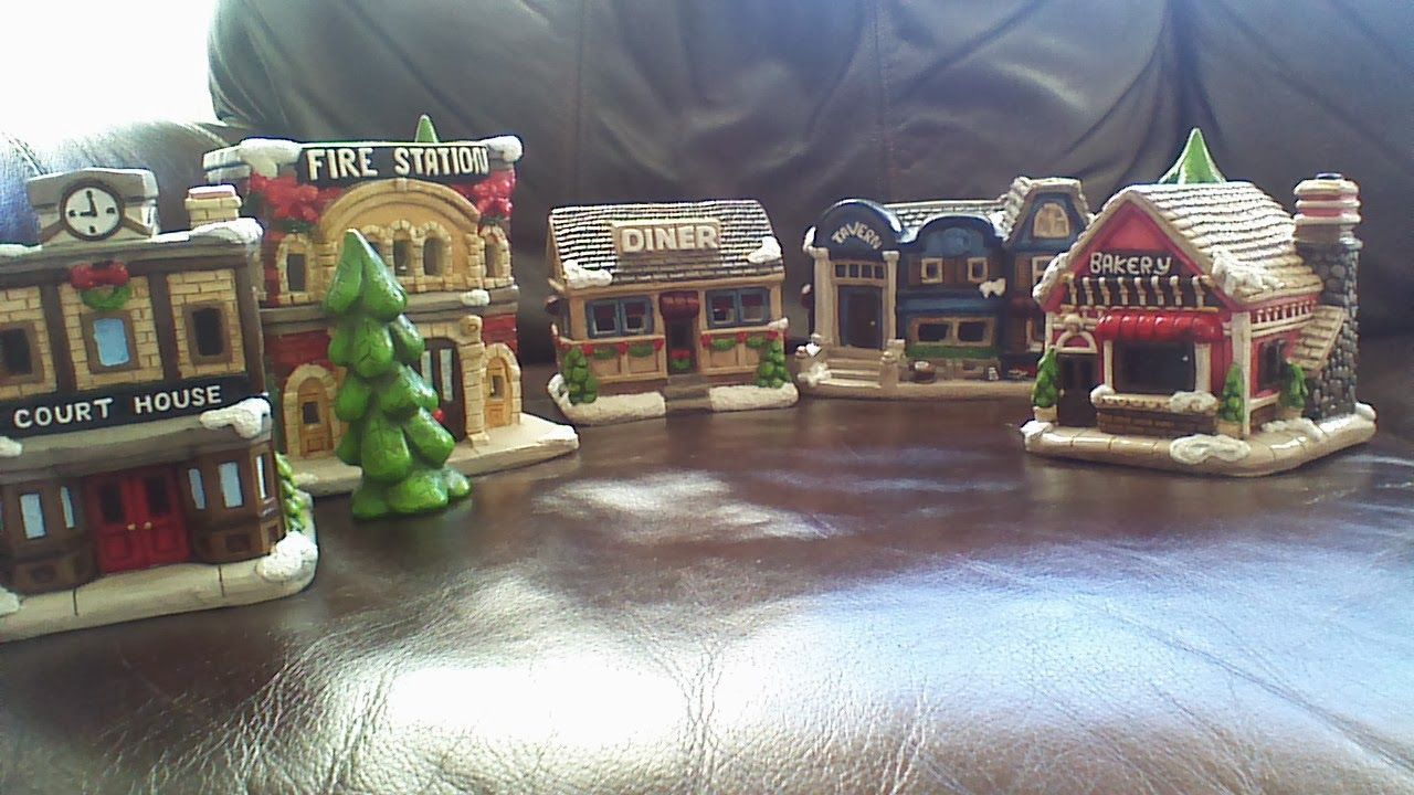 michaels ceramic christmas villages painted christmas village houses to paint these took forever to paint - Michaels Christmas Village