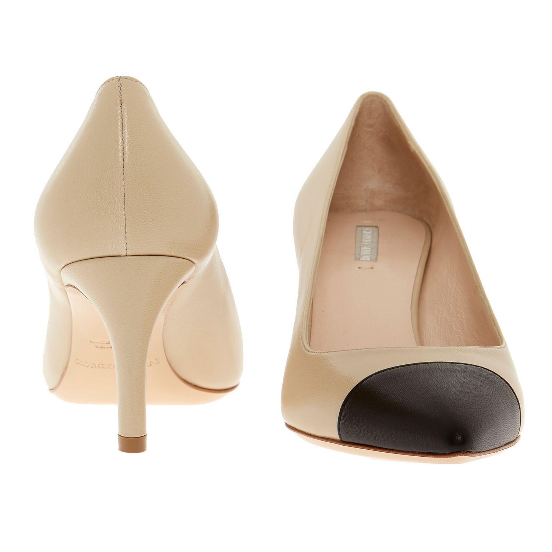 6e928cd2bcab9 Nude & Black Leather Court Shoes - Shoes - Women - TK Maxx | clothes