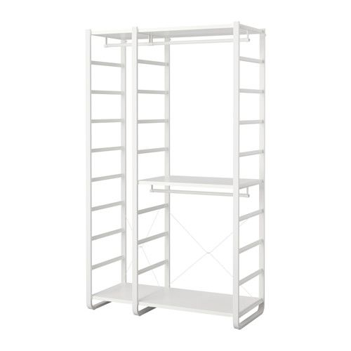 Ikea Elvarli 2 Section Shelving Unit White Products In 2019