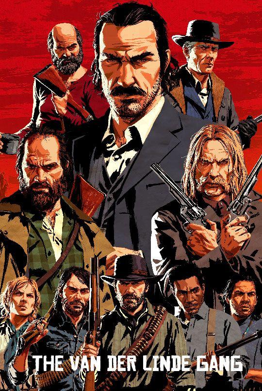 Red Dead Redemption 2 The Van Der Linde Gang Red Dead Redemption Art Red Dead Redemption Funny Red Dead Redemption