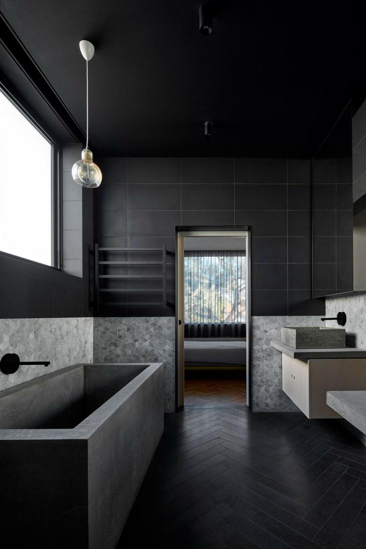 5 Of The Hottest European Home Designs Today Kukun Bathroom Interior Design Minimalism Interior Dark Interior Design