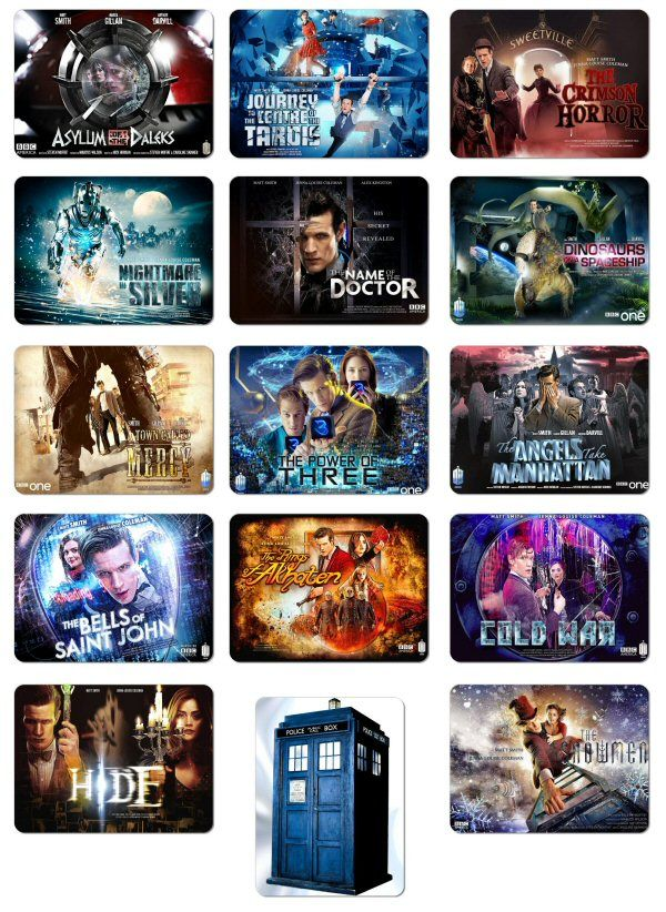 DOCTOR WHO Giant 15 Magnet Collection Series 7 Matt Smith