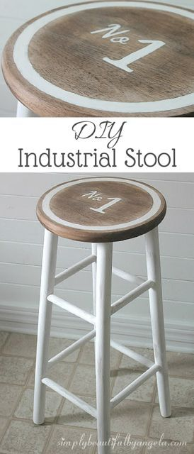 diy industrial stool beach house stool diy furniture rh pinterest ch