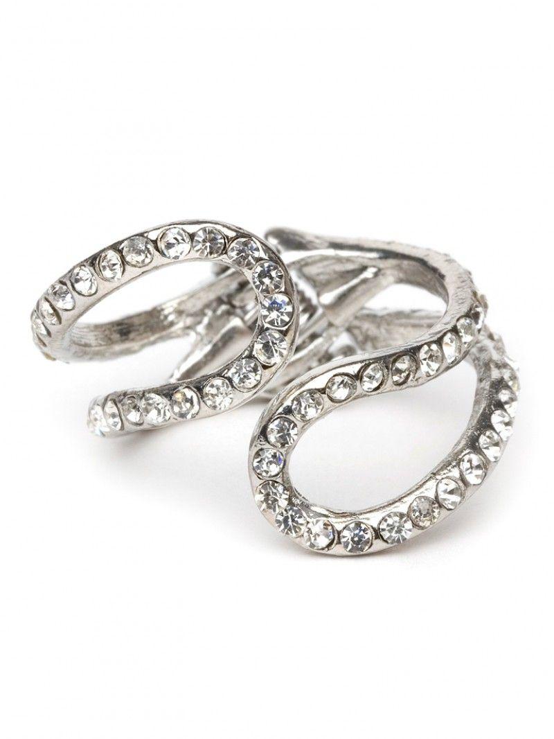 Pave Twist Ring