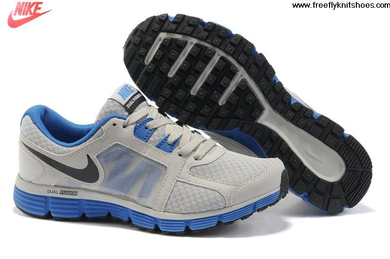 Sale Discount Mens Nike Dual Fusion ST 2 Wolf Grey Treasure Blue Black Shoes  Fashion Shoes