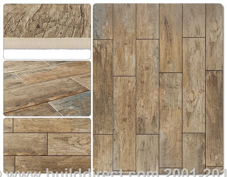Builddirect Cabot Porcelain Tile Redwood Series Natural 110 Min 3 32 Sq Ft 6 X24
