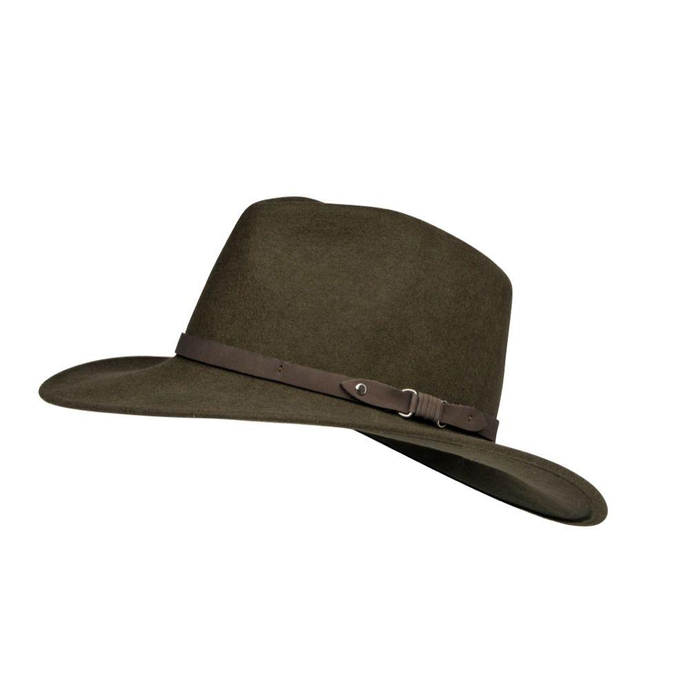 SOMBRERO CUADRA ~ Sombrero con detalle de tira de piel ... 2f33b9d95bf