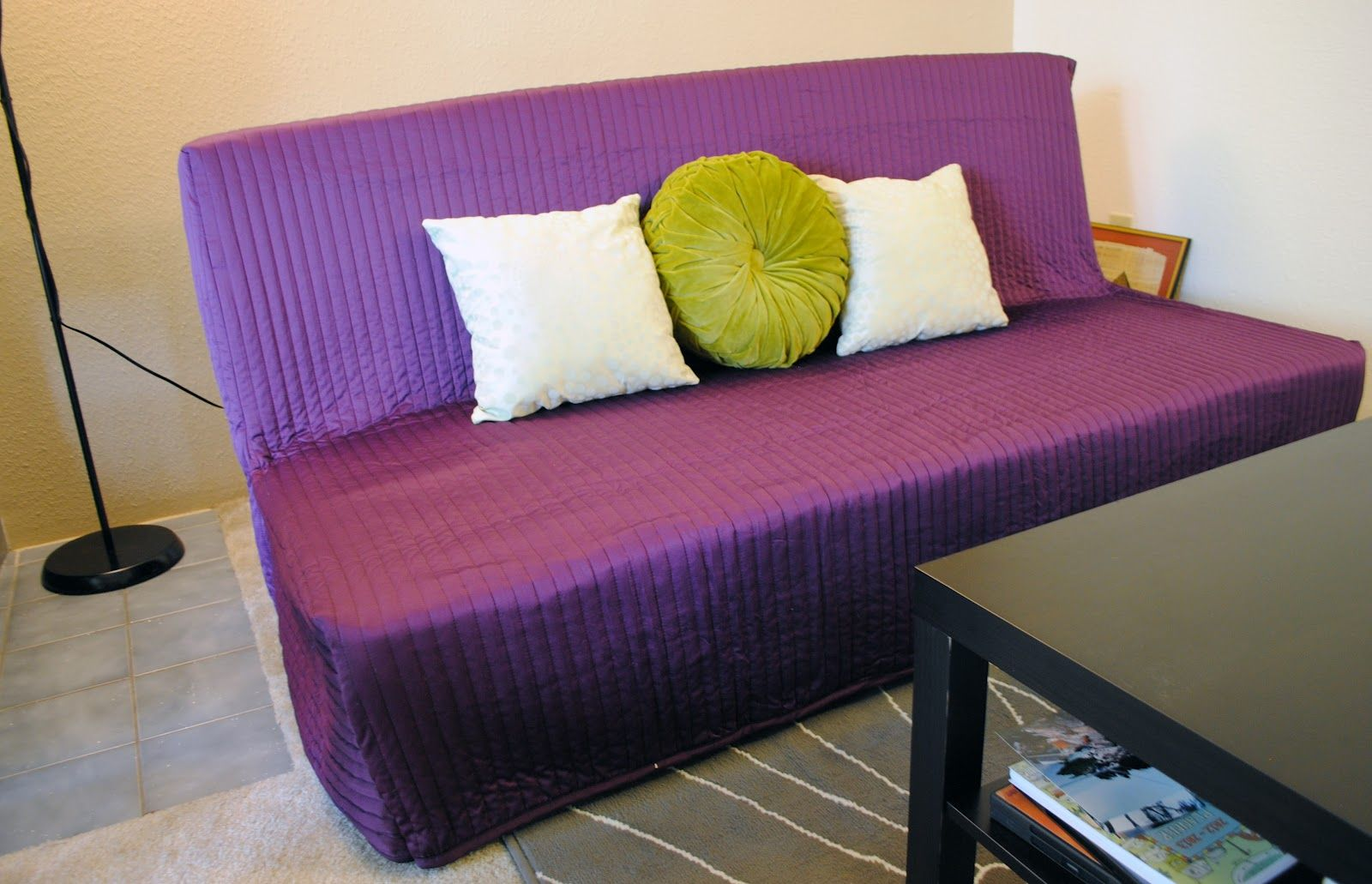 Diy Ikea Bedspread To Sofabed Cover Outdoor Furniture Design Outdoor Furniture Cushions Slipcovers