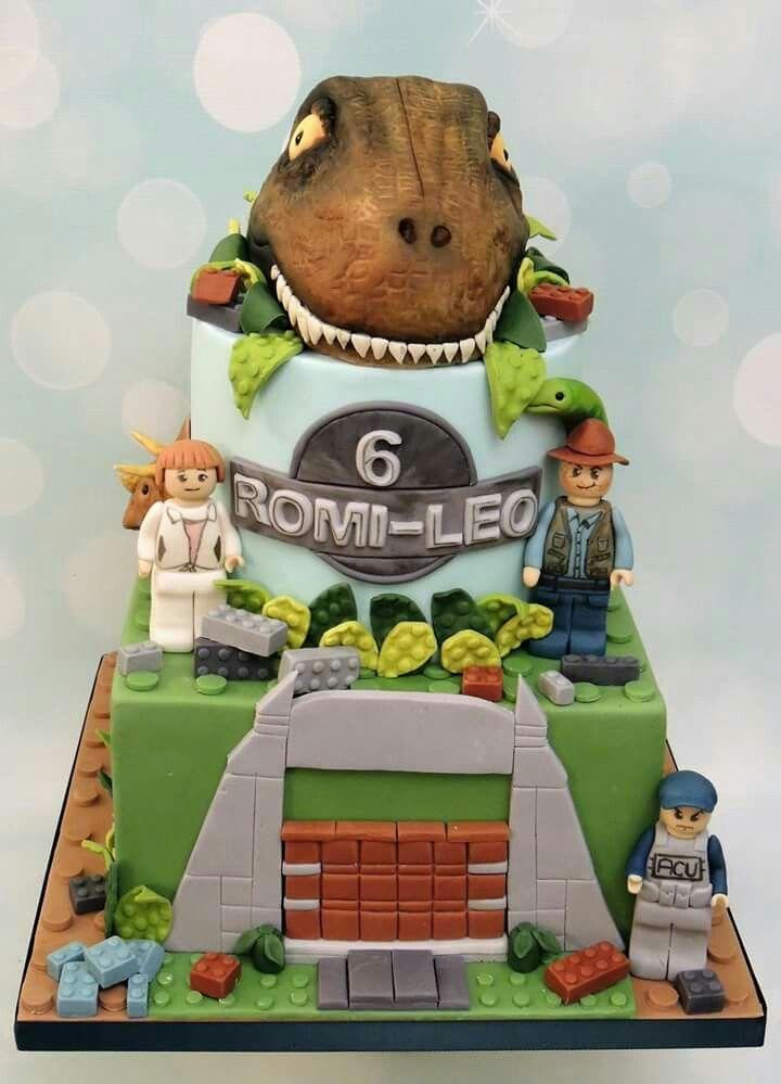 Jurassic Lego Cake With Images Jurassic Park Birthday