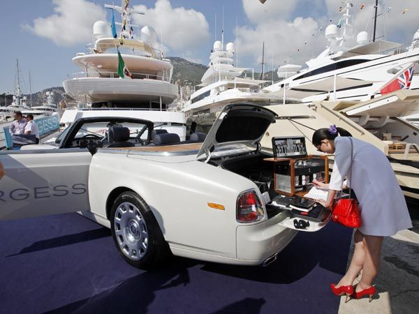 At The Monaco Yacht Show Car Monaco Yacht Show Monaco