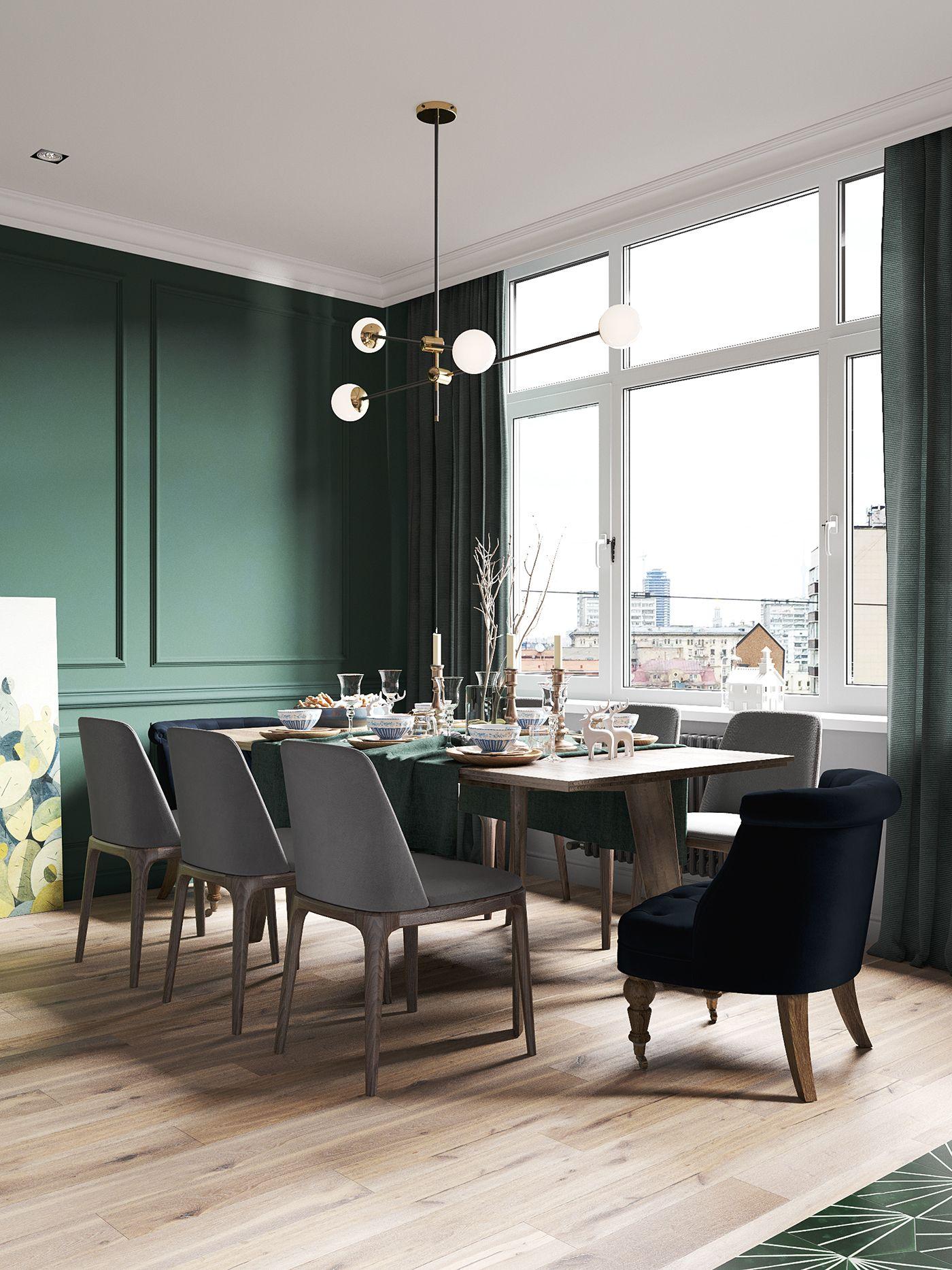 Fabuleux Un appartement en couleurs sombres à St Petersbourg - PLANETE DECO  VP84