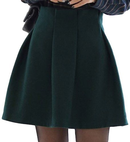 PSEZY Women Vintage High Waist A-line Short Skirt Green P... https://www.amazon.com/dp/B00KHRZJ1Q/ref=cm_sw_r_pi_dp_t1cIxbMNTYBYR