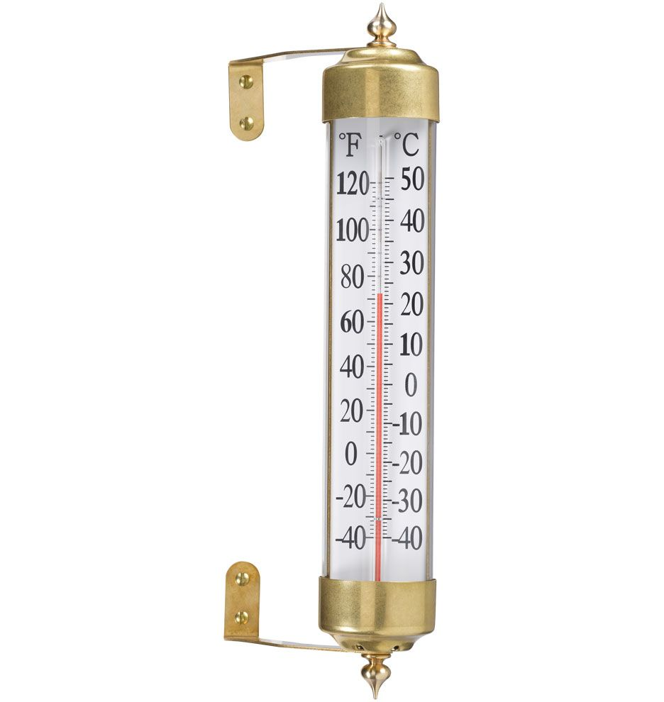 Antique Brass Thermometer