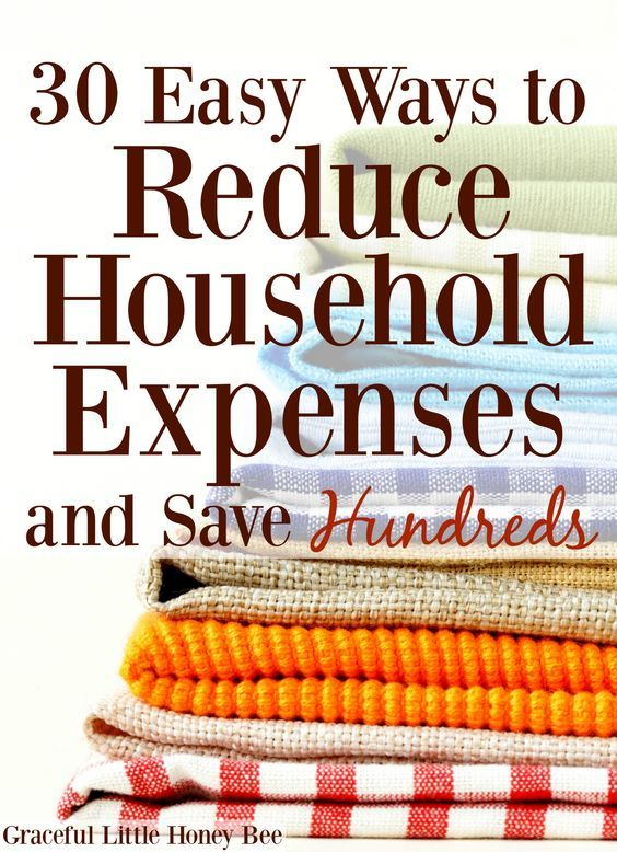 30 Easy Ways to Reduce Household Expenses and Save Hundreds | Spartipps