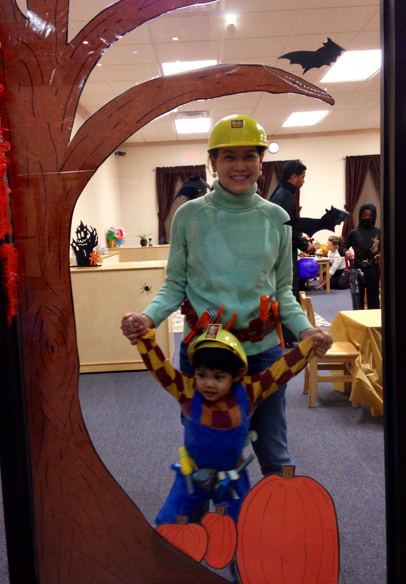 Bob the builder & Wendy costumes - maybe I can rock the Wendy costume to little b's bob costume