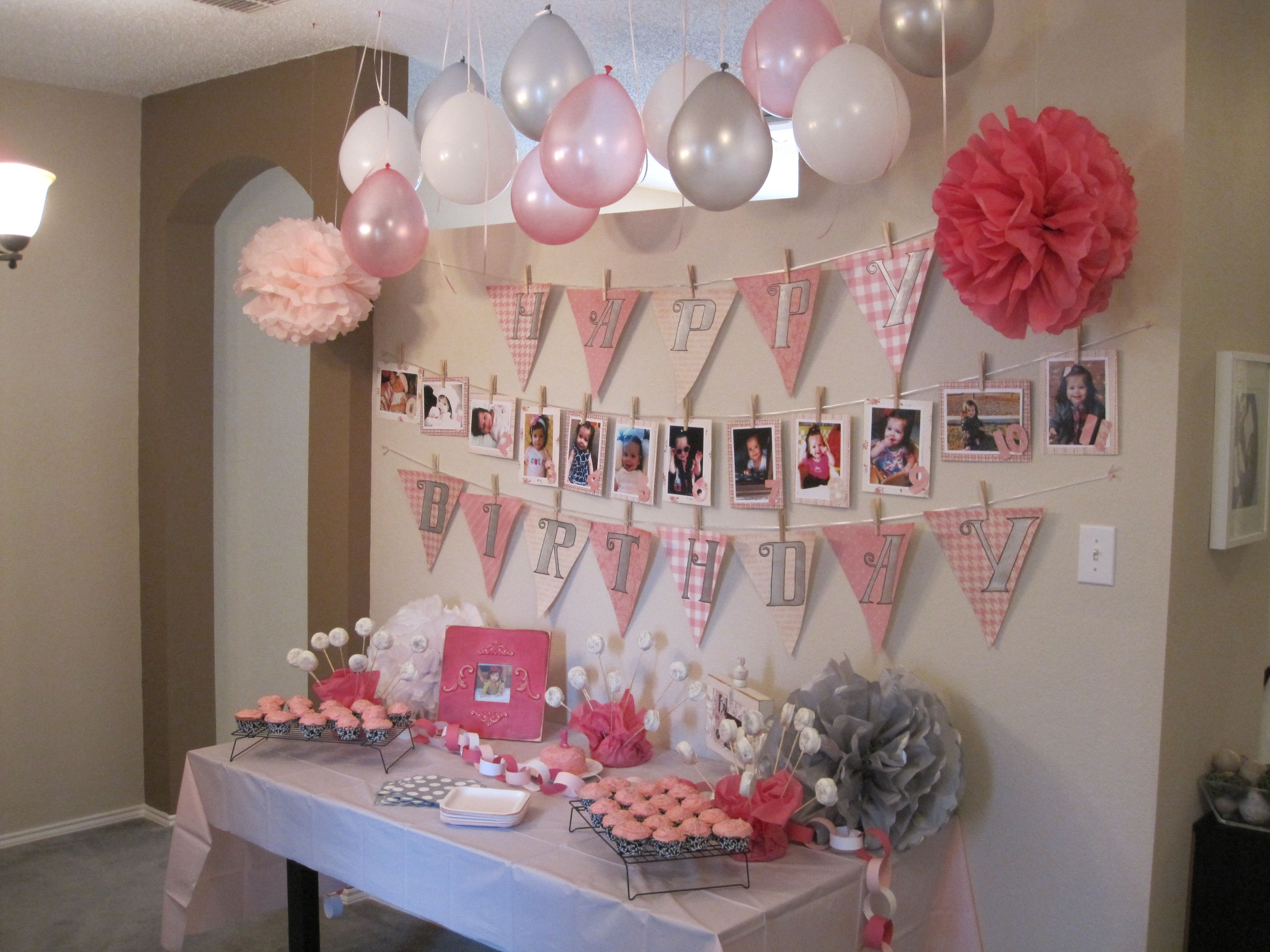 Delicieux Fresh First Birthday Decoration Ideas At Home For Girl   Creative Maxx Ideas