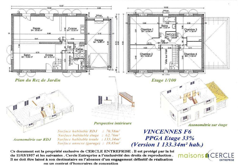 Plan Vincennes Maison à étage Pinterest - plan maison 110m2 etage