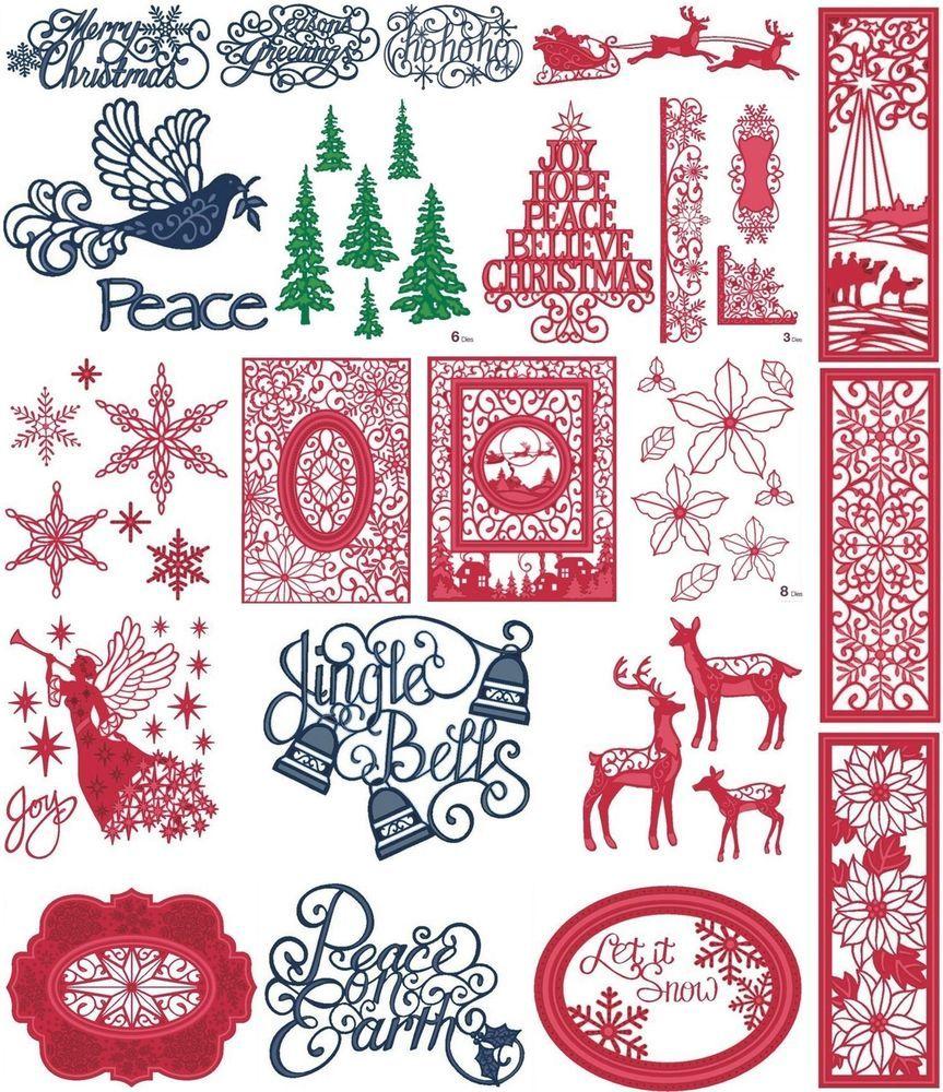 SUE WILSON CHRISTMAS FESTIVE COLLECTION 2015 CREATIVE