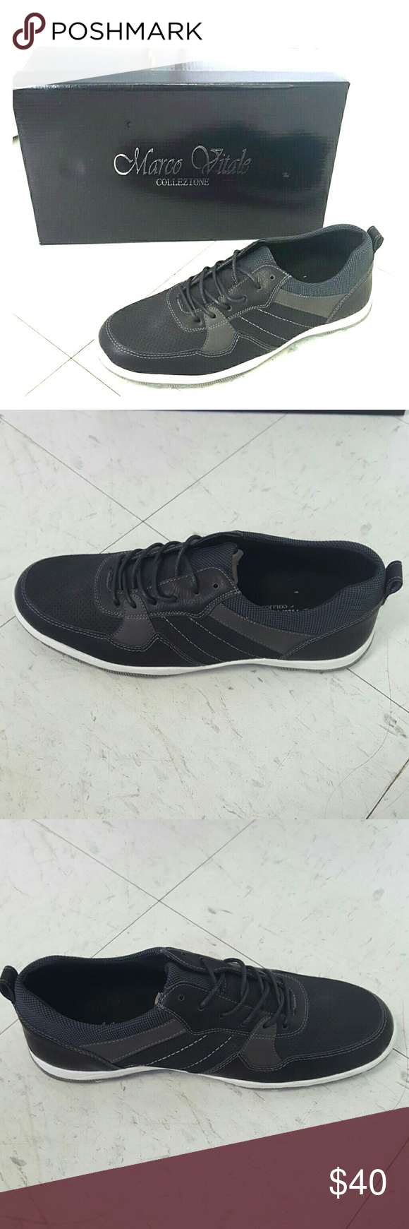 Mens black  casual sneaker size 8 Mens black  casual sneaker size 8 Marco Vitale Collezione  Shoes Sneakers