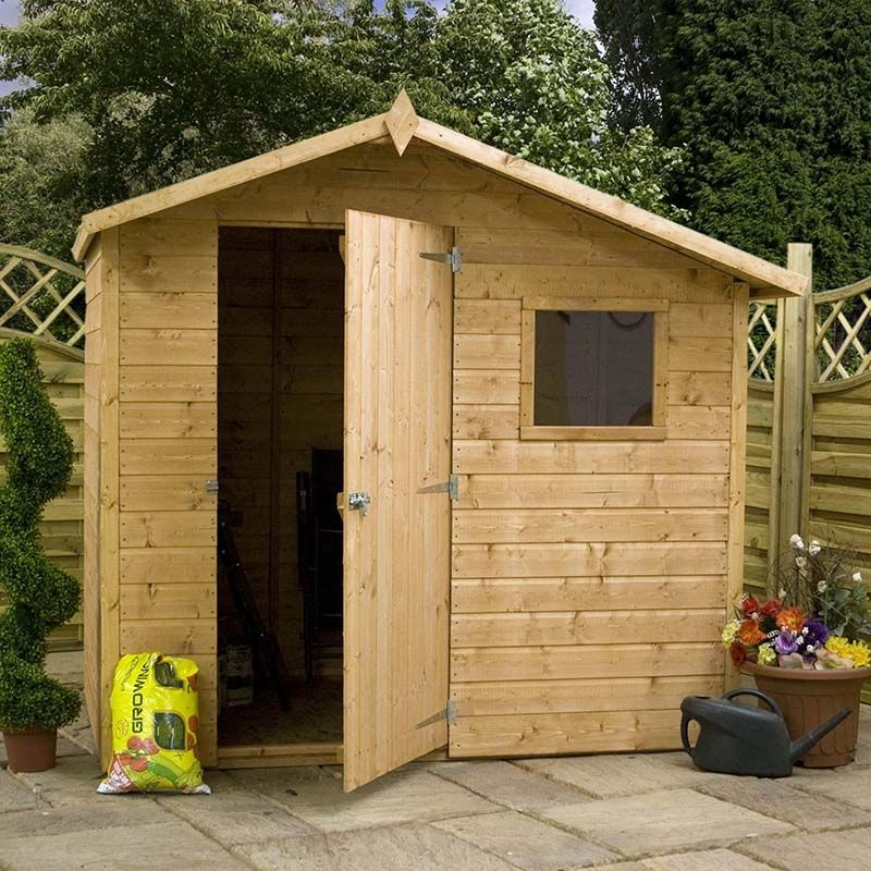 7x5 tongue and groove offset apex shed