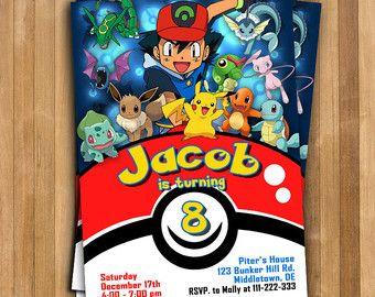 Pokemon Invitation Pokemon Birthday Invitation Pokemon